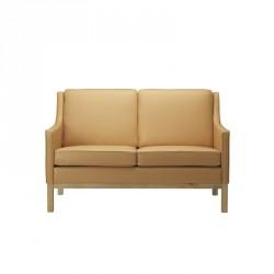 FDB Møbler - L601-2-pers. Sofa - Camel