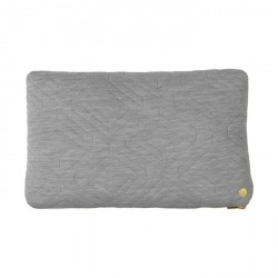 Ferm living - Pude - Quilt cushion, lysegrå (40*60 cm)