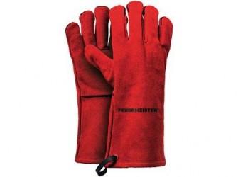 Feuermeister Premium BBQ Grillhandske - Rød - Læder