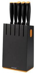 Fiskars FF Knivblok med 5 knive, sort