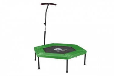 Fitness trampolin med beskyttelses cover over snorene - Grøn