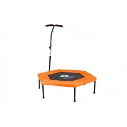 Fitness trampolin med beskyttelses cover over snorene - Orange