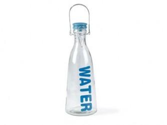 Flaske med låg 1liter Blå