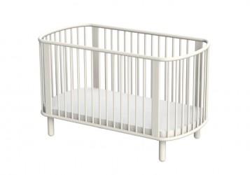 Flexa - Baby Tremmeseng - Hvidlakeret bøg