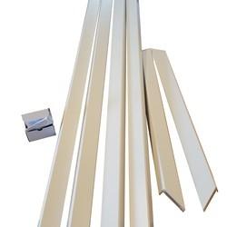 Flexkarm 75-100 mm. glat gerigt - 68,6 x 204,9 cm.