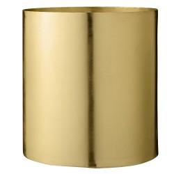 Flowerpot, gold, metal