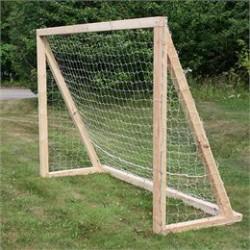Fodboldmål med net - Ubehandlet fyrretræ