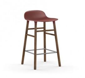 Form Barstol Sort/Valnød 65 cm