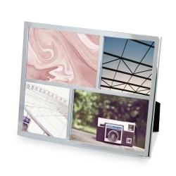 Fotoramme til 4 billeder - stål