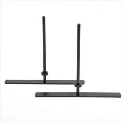 FTI ECO Soft fødder - sort metal, til skærmvægge (sæt m. 2)