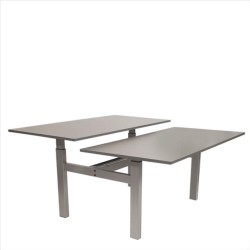 FTI Greenline duo skriveborde - antracit laminat og aluminium, m. hæve/sænke funktion (2x 160x80)
