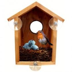 Fuglehus til montering på vindue