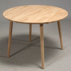 FURBO rund spisebord - massiv behandlet eg (Ø90) Lakeret eg