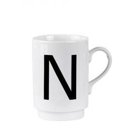 Galzone Krus - N - Porcelæn - Hvid - Sort - D 7,0cm - H 10,0cm - 1 - Stk.