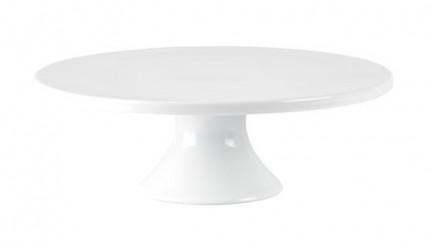 Galzone Lagkagefad - Porcelæn - Hvid - D 28,0cm - H 10,0cm - Stk.