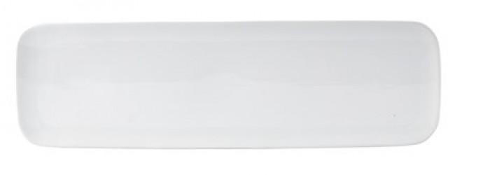 Galzone Serveringsfad - Porcelæn - Hvid - H 1,5cm - L 53,5cm - B 16,0cm - Stk.