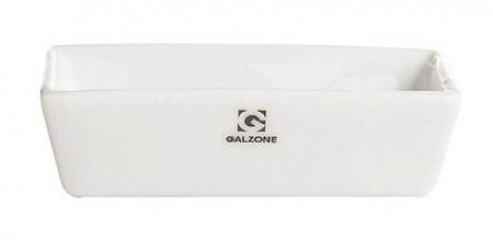 Galzone Skål - Porcelæn - Hvid - H 3,5cm - L 10,0cm - B 5,0cm - 0,05l - Stk.