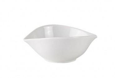 Galzone Skål - Porcelæn - Hvid - H 4,5cm - L 12,0cm - B 10,0cm - 0,10l - Stk.