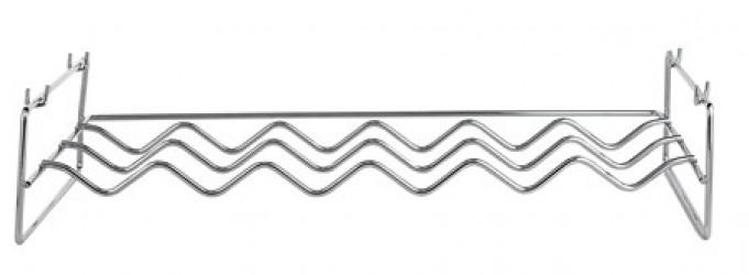 Galzone Vinreol - Metal - Krom - H 13,0cm - L 55,0cm - B 36,0cm - Stk.