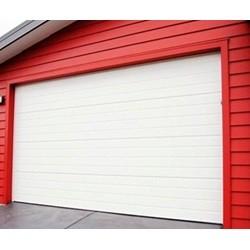 Garageport med automatik og 2 fjernbetjeninger 253 cm bred x 214 cm høj