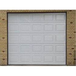 Garageport med automatik og 2 fjernbetjeninger 253 cm bred x 268 cm høj