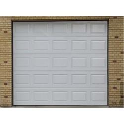 Garageport med automatik og 2 fjernbetjeninger 301 cm bred x 228 cm høj