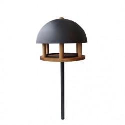 Garden Life - Fuglefoderhus Dome Oak med metal stander