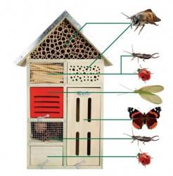 Garden Life - Insekthotel Beate, stor H48 cm, FSC godkendt