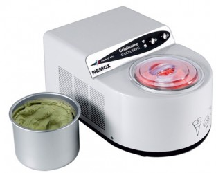 Gelatissimo Exclusive Ismaskine 1,7L hvid