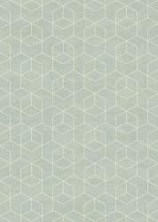 Gent Luvtæppe - Isblå m. Geometrisk - 160x230
