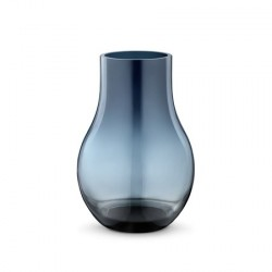 Georg Jensen Cafu Vase 21,6cm Blå Glas