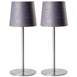 Georg Jensen Damask bordlamper - Krystal - Grå