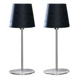 Georg Jensen Damask bordlamper - Krystal - Sort