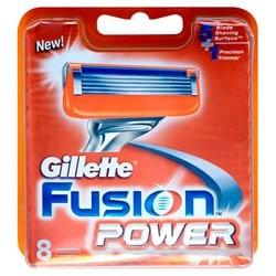 Gillette Fusion Power barberblade til mænd, 8 stk.
