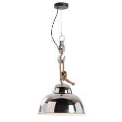 Ginger loftlampe - sølv metal, rund (Ø38)