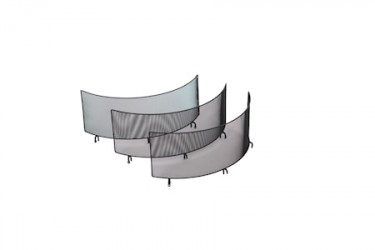 Gnistfanger med tre vægge til Bålpande 60 cm