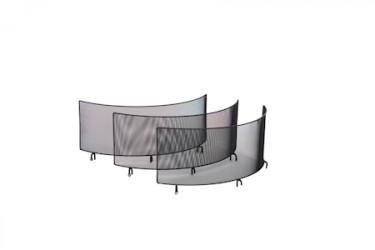 Gnistfanger med tre vægge til Bålpande 70 cm