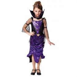 Gothic Vampyr Lilla Kappe udklædningstøj til børn (Str. 128/L)