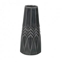 Grå vase (10,5×22,5 cm)