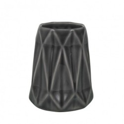 Grå vase (8×10 cm)