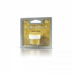 Gram Spiselig glimmer pastelgul - 5 gram
