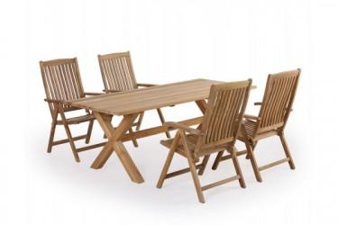Greenface Teak X-leg 200 Devon Havemøbelsæt