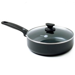 Greenpan sauterpande med glaslåg - Cambridge - Ø 24 cm