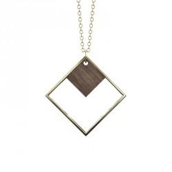 Grundled Indirekte Objekt Necklace Dark Wood/Gold