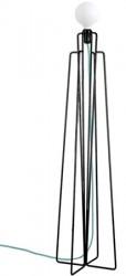 Grupa Products Model M1 gulvlampe ? Sort/cyan