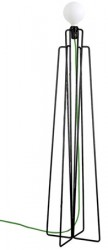 Grupa Products Model M1 gulvlampe ? Sort/grøn