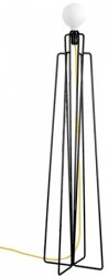 Grupa Products Model M1 gulvlampe ? Sort/gul