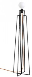 Grupa Products Model M1 gulvlampe ? Sort/orange