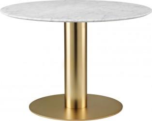 GUBI - 2.0 Spisebord Brass m. Marmor - Ø110