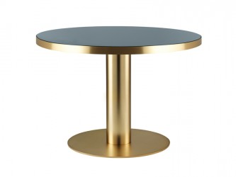 GUBI - 2.0 Spisebord - Grå Glas - Ø110